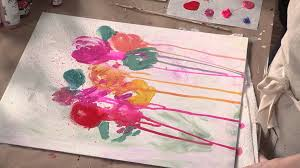 Abstract Painting How To Abstract Flower Painting With Carrie Schmitt Youtube