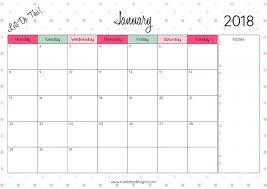 monthly printable calendar 2018 monthly printable calendar lets do this true bliss designs