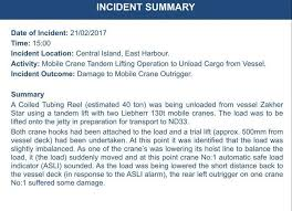 what is an incident report crane incident report