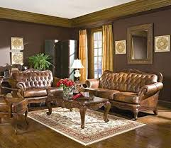 brown leather sofa sets. Fine Leather Victoria Classic Button Tufted Leather Sofa Set To Brown Sets