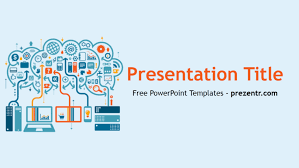 Blue And Orange Powerpoint Template Free Big Data Powerpoint Template Prezentr Powerpoint
