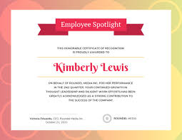 Employee Of The Quarter Certificate Recognition Certificate Templates Venngage