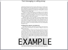 text messaging vs calling essay research paper help text messaging vs calling essay impact of text messaging on communication heidi hemmer dinner""