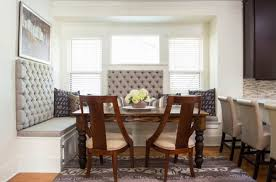 banquette dining room furniture. Fascinating Dining Room Banquette Bench Design Implemeted With Dark Brown Wooden Cairs And Several Tufted Back Sofas Facing Yellow Flower In Table Furniture I