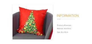 Printed Pillowcase Soft Sofa Cushion Cover Christmas Tree Pattern Pillow  Case