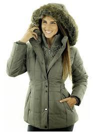 sportoli women s fashion winter puffer coat with plush lined detachable hood
