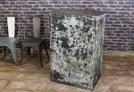 Vintage steel furniture Lawn Vintage Steel Industrial Cabinet Urban Remains Vintage Industrial Steel Cabinetdistressed Paintwork And Riveted Door