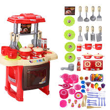 baby miniature kitchen plastic pretend play food children toys with light kids kitchen cooking toy set for girls hot by justokay