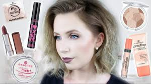 full face of essence makeup cool toned makeup on fair skin
