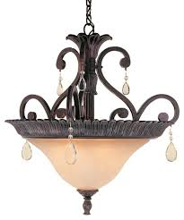 3 light pendant chandelier with crystal accents rustic bronze traditional pendant