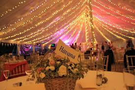 Full Fairy light canopy - wedding decor - Kenton Hall Suffolk