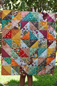 302 best Quilts images on Pinterest | Quilt patterns, Jellyroll ... & Squares, made of triangles make a quilt. Simple. ive been looking for a Adamdwight.com