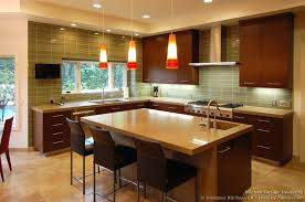 recessed lighting trends with kitchen top designs cabinets appliances colors and 3 modern dark wood 050a dkl001 cherry island chairs pendant glass