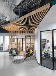 innovative office designs. Firm: Design Blitz. Project: Comcast. Location: Sunnyvale, California.  Standout: Angles Are Writ Large And Small, From The Canopies Sheltering Break-out Innovative Office Designs
