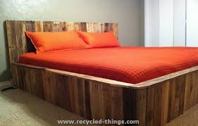 pallet king size bed recycled pallet furniture ideas pallets king size and pallet