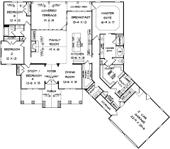 house plan 58254 at familyhomeplans com House Plans From Home Builders craftsman house plan 58254 level one Family Home Plans