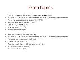 finance essays essays exam topics part 1 financial planning performance