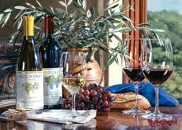 napa valley memories ii is a hyper realistic painting by watercolor master