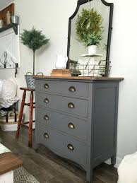 Diy Painted Furniture Ideas Charcoal Gray Dresser With A Sweet