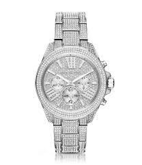 michael kors diamond watches for men best watchess 2017 michael kors wren stainless steel pavé chronograph watch dillards
