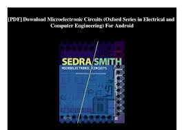 Microelectronic Circuits Pdf Download Microelectronic Circuits Oxford Series In