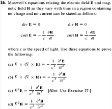 Show transcribed image text Maxwell     s equations relating the electric field E and magnetic field H as they vary with time in a region containing no charge