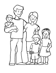 Coloring Page Of A Family Coloring Home