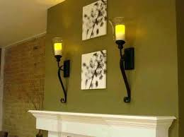 candle wall lamp sconces over fireplace mantel with glass holders lamps candle wall lamp sconces over fireplace mantel with glass holders lamps