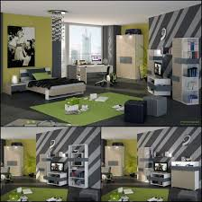 ... boy's bedroom with cozy interior and sports-related decorations View ...