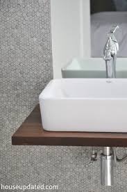 Best Floating Bathroom Sink Shelf Diy Walnut Floating Shelf Sink Vanity  House Updated