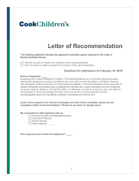 Letter Of Recommendation Not Submitted Nurse Residency Letter Of Recommendation