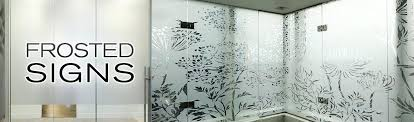 glass etching stickers door