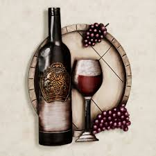 cellar reds wine and g metal wall art with regard to latest wine bottle metal wall