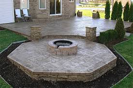 patio with fire pit. Concrete Patio Designs With Fire Pit Round Large