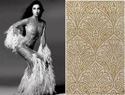 cher in bob mackie 1975 and bob mackie for surya s moderne rug collection