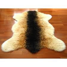 gy goat pelt faux fur rug ikea