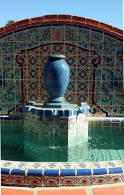fancy pictures of garden decoration using tile wall fountain stunning garden decoration using light blue