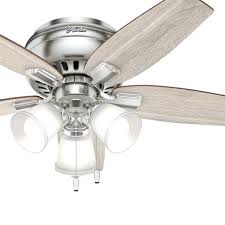 low profile ceiling fans with led lights hunter low profile ceiling fan in brushed nickel with low profile ceiling fans