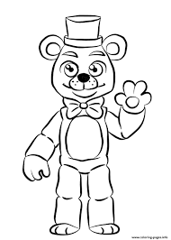 Cool Golden Freddy Fnaf Coloring Pages Printable Free Coloring Book