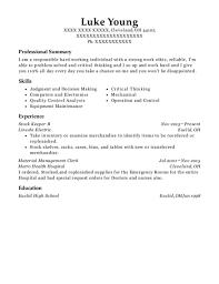 Material Management Resume Sample Best Material Management Clerk Resumes Resumehelp