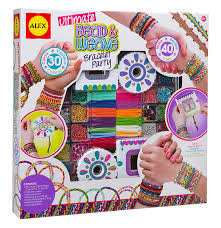 diy wear ultimate bead and weave bracelet party make 40 friendship bracelets in so many styles beaded woven flat and woven round by alex toys