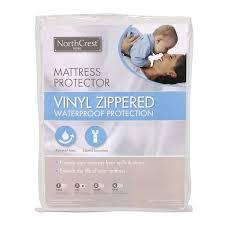 Zippered mattress protector White Shopko Northcrest Vinyl Zippered Mattress Protector Shopko