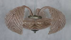 murano glass chandelier with leaves murano venice italy 20th century