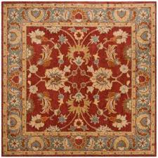 heritage red blue 6 ft x 6 ft square area rug
