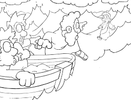 Jesus Walks On Water Coloring Pages 2403785