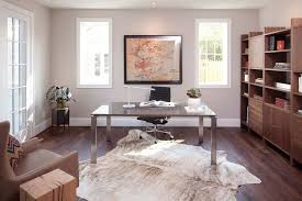 rugs for home office. decorating with cowhide rug home office contemporary task lamp wood floor mid century rugs for