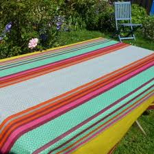 deckchair stripe extra wide acrylic oilcloth in multi 175 cms