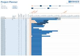 Excel Project Calendar Template Simple Project Planner For Excel