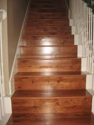 Painted Wood Stairs Combinations Between Natural Colors Of Wood And Bright White To