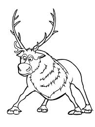 Sven Reindeer Coloring Pages